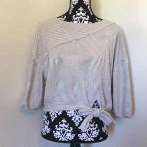 Anthropologie Postmark crop sweatshirt